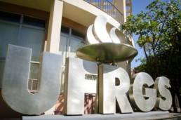 entrada do campo da UFRGS